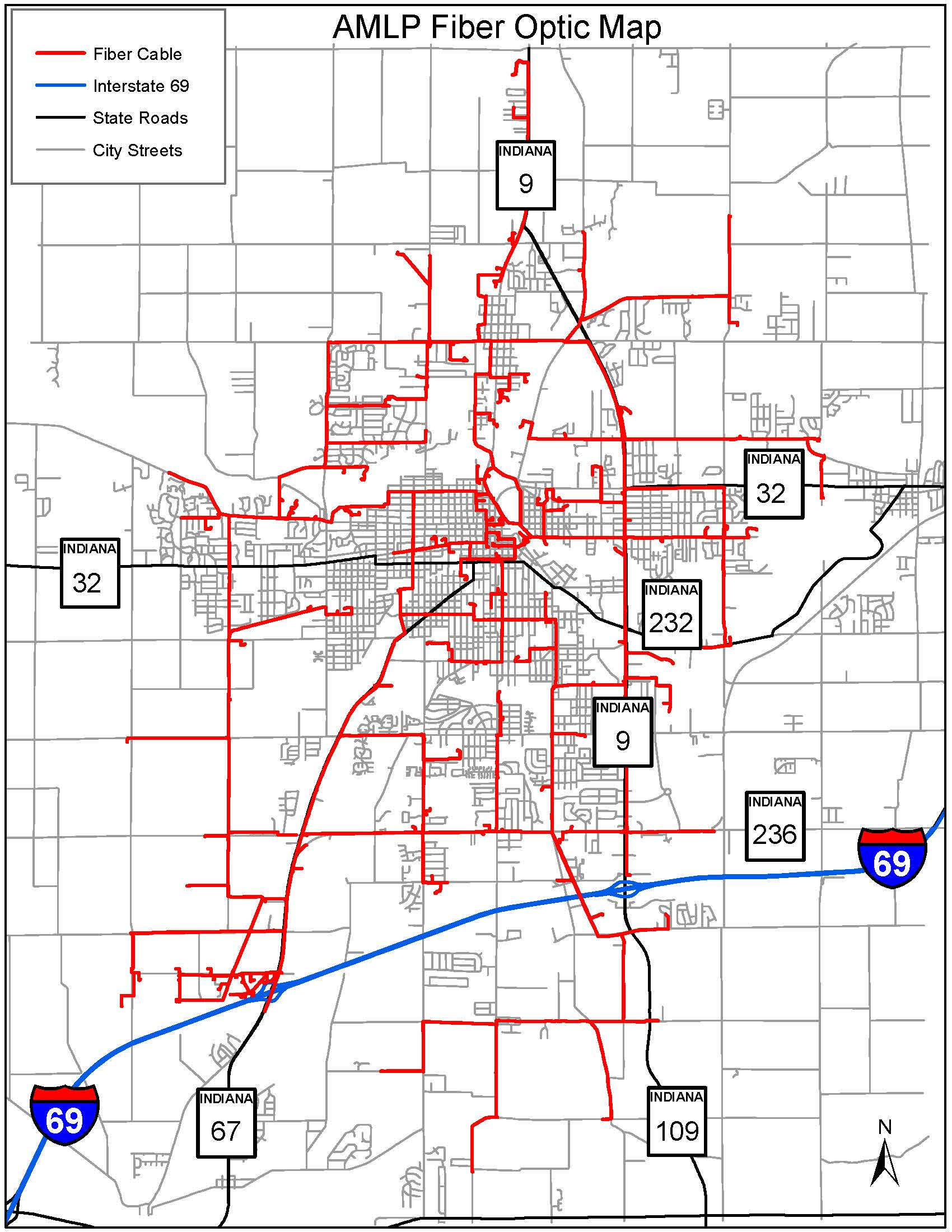 City of Anderson Fiber Map